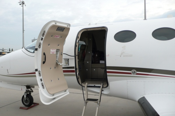 Cessna Citation Mustang Lavatory Toilet Entrance Photo